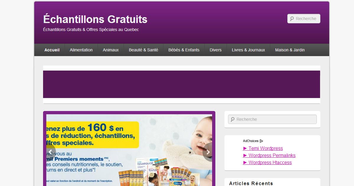 Échantillons Gratuits - Échantillons Gratuits & Offres Spéciales au Quebec
